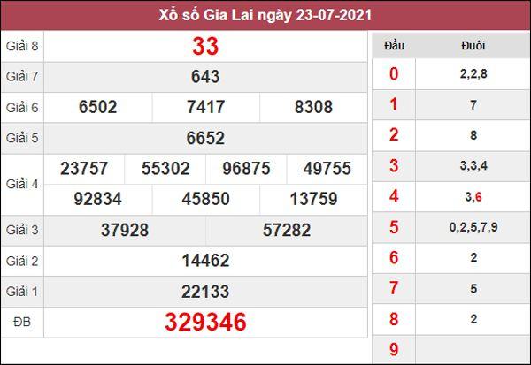 Thống kê XSGL 30/7/2021 thứ 6 chốt cặp số đẹp Gia Lai