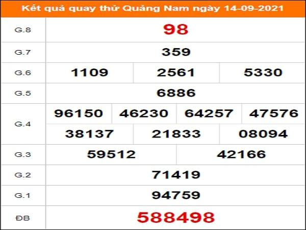 Quay thử Quảng Nam ngày 14/9/2021 thứ 3